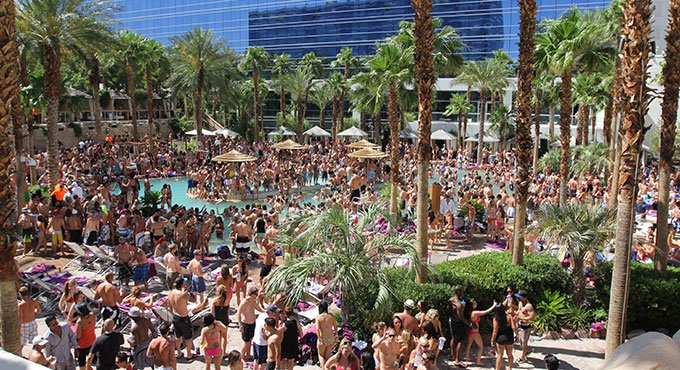Hard Rock Hotel pool party