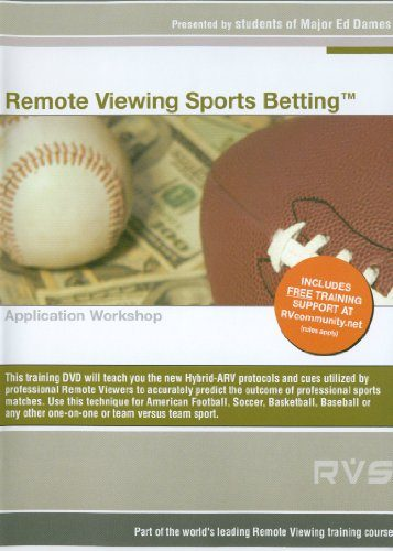 A remote viewing sports betting training DVD
