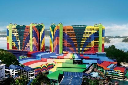 Resorts World Genting Casino high up in the Malaysian mountains