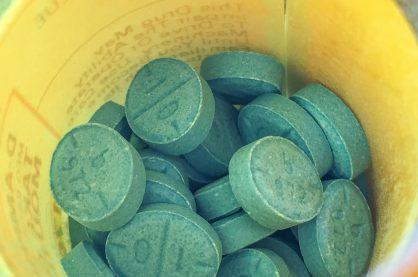 A tub full of ritalin tablets
