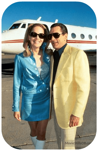 Robert De Niro & Sharon Stone in Casino movie standing in front of private jet