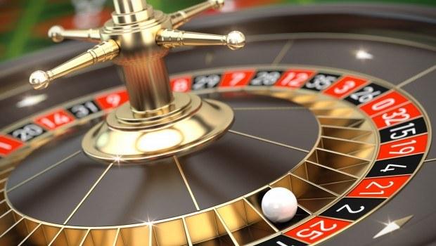 A casino roulette wheel