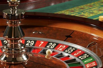 A typical roulette wheel from a land-based casino