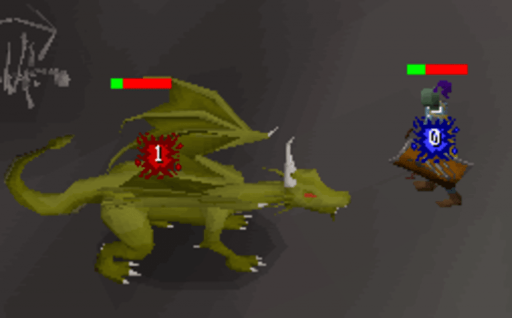 In-game action from the popular PC game Runescape