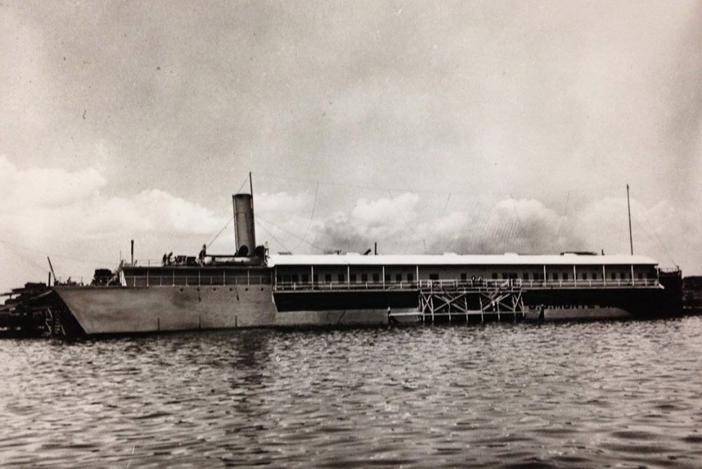 The S.S. Monte Carlo that later became a gambling ship