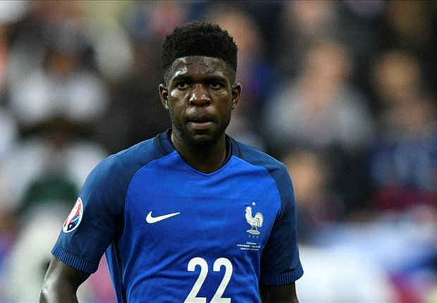 Samuel Umtiti, representing France at the World Cup