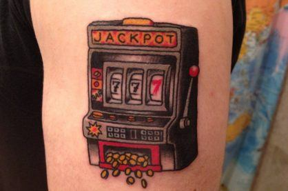 Classic slot machine tattoo
