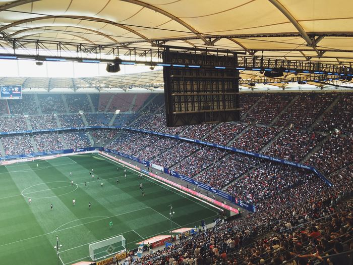 Live image from a soccer stadium