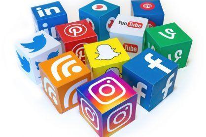 Logos of the most popular social media platforms