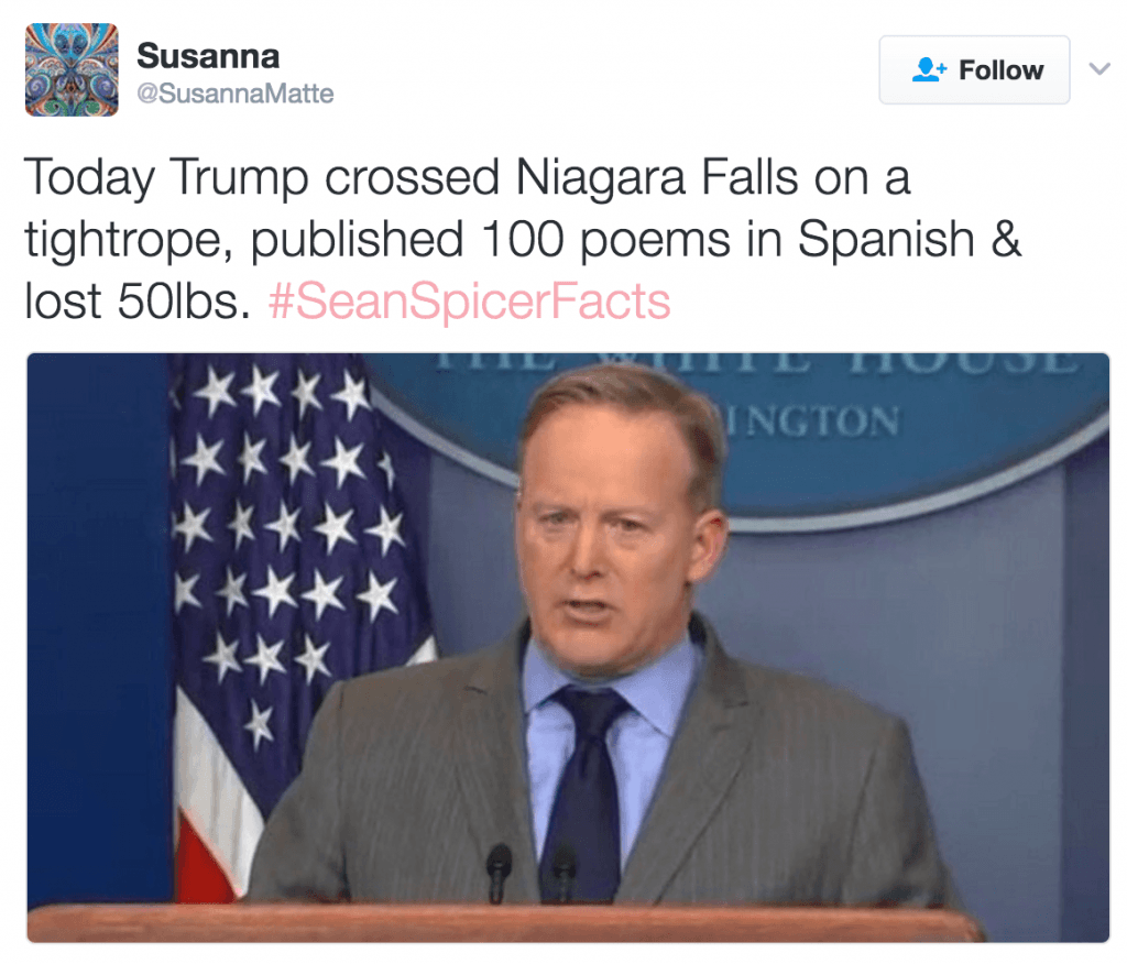 spicer facts tweet