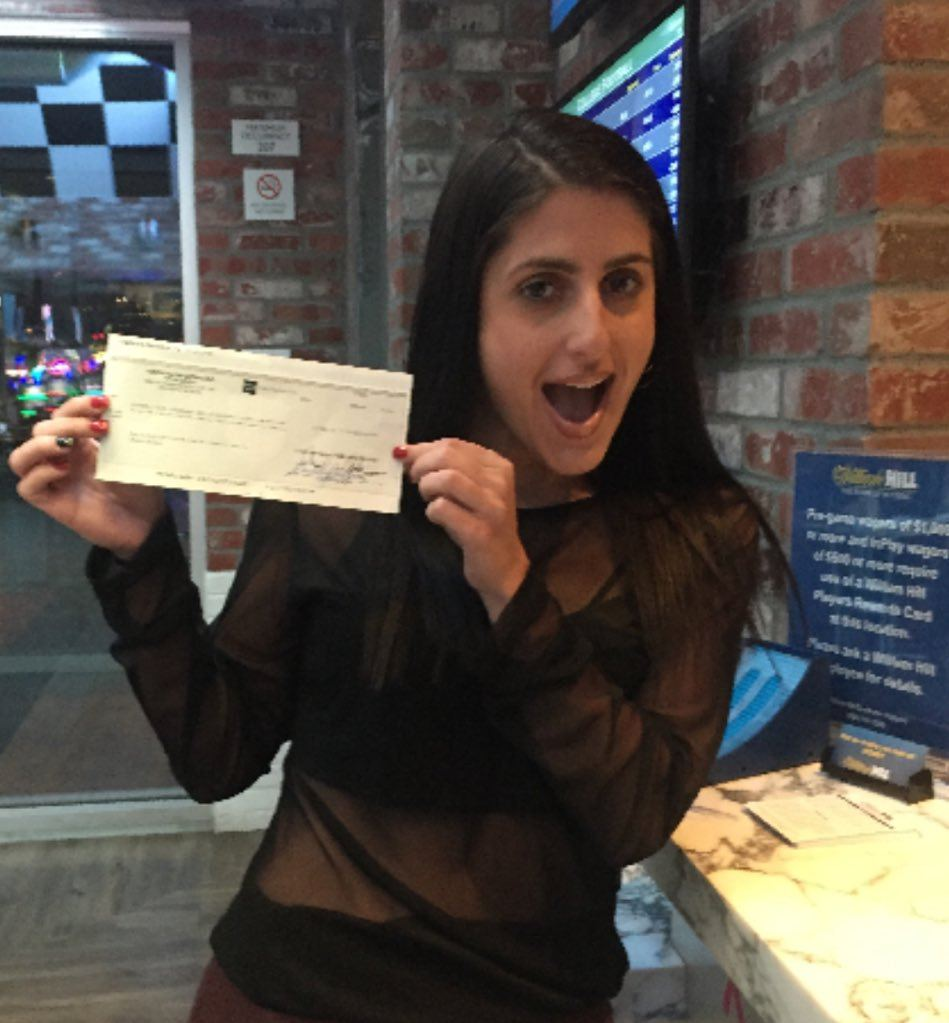 A winner of a huge parlay bet for $305,000