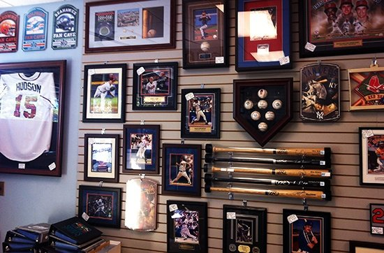 An example of a sports memorabilia collection
