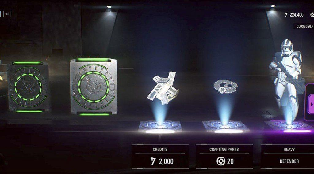 Loot boxes in Star Wars Battlefront 2