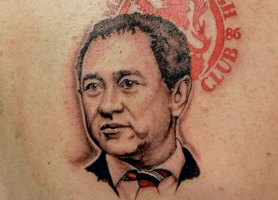 Tattoo of Steve Gibson's face