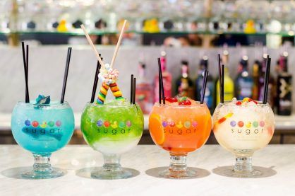 Cocktails on offer at the Sugar Factory