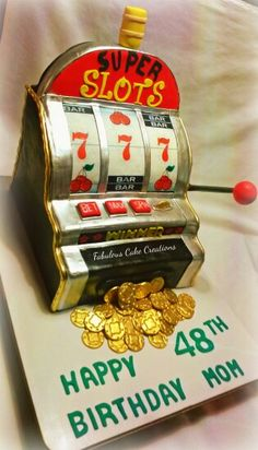 An image of a Super Slots birthday cake
