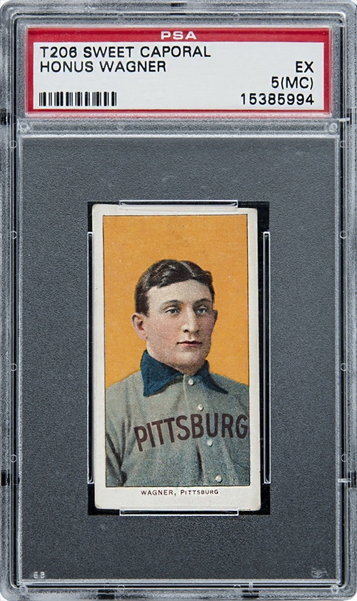 An image of the 1909-11 T206 Honus Wagner Baseball card