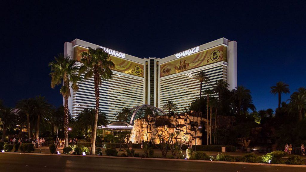 An image of The Mirage casino in Las Vegas