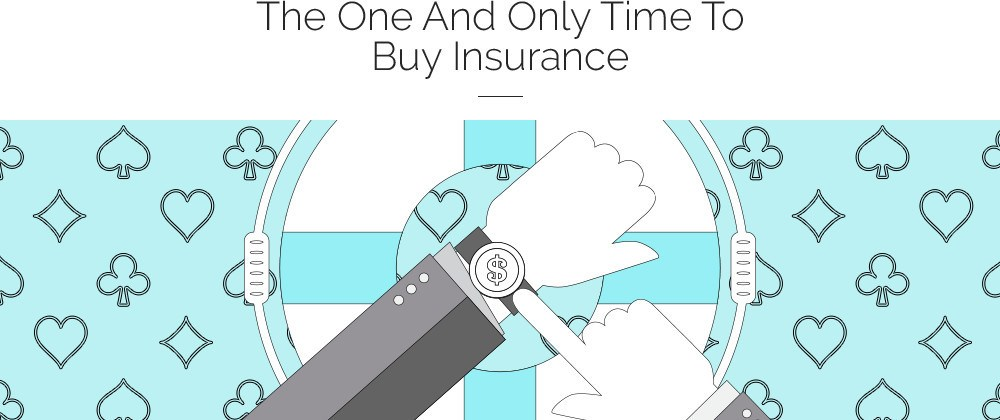 When to buy insurance during a hand of blackjack