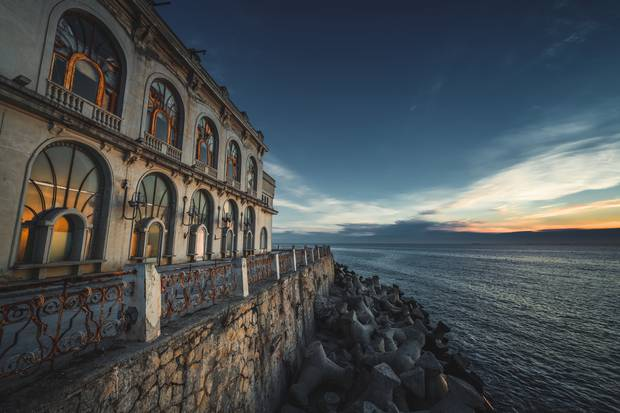 The seaside surrounding the abandoned Constanta Casino