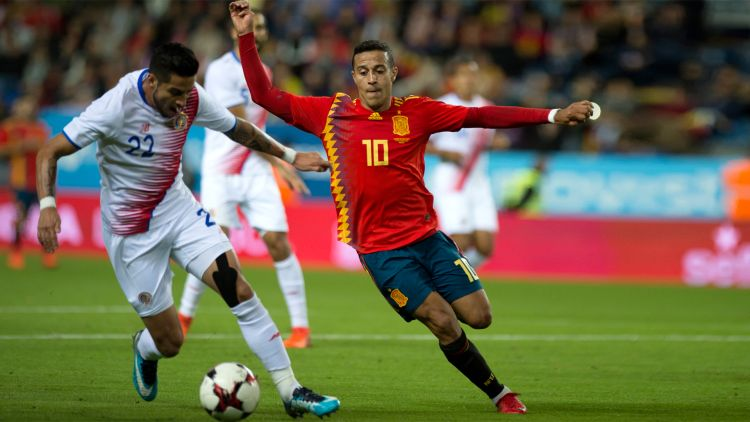 Thiago is a young talent who plays for Spain