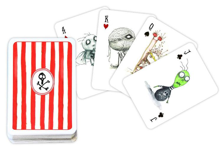 Tim Burton themed playing cards