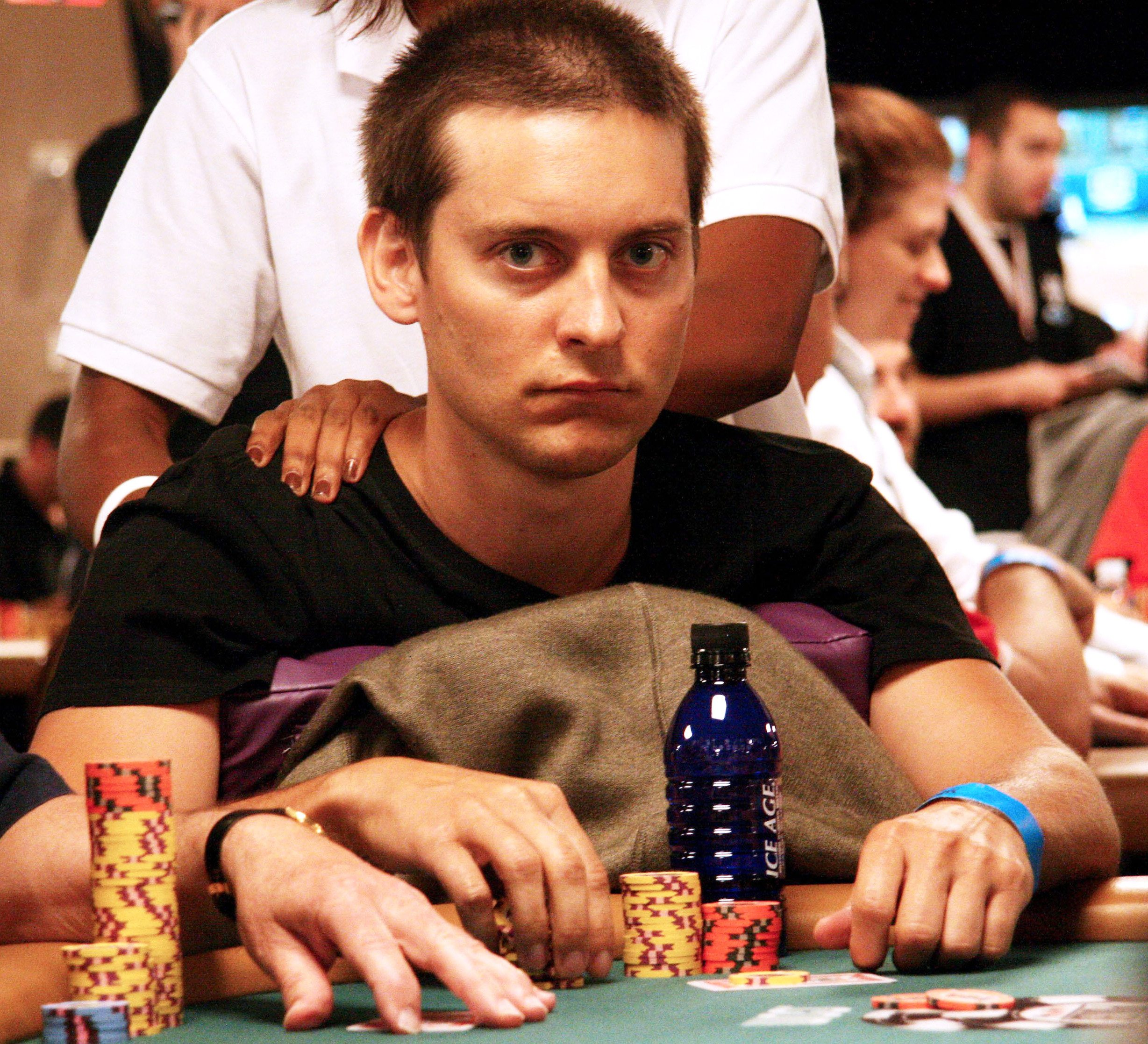 Tobey Maguire competing at the World Series of Poker