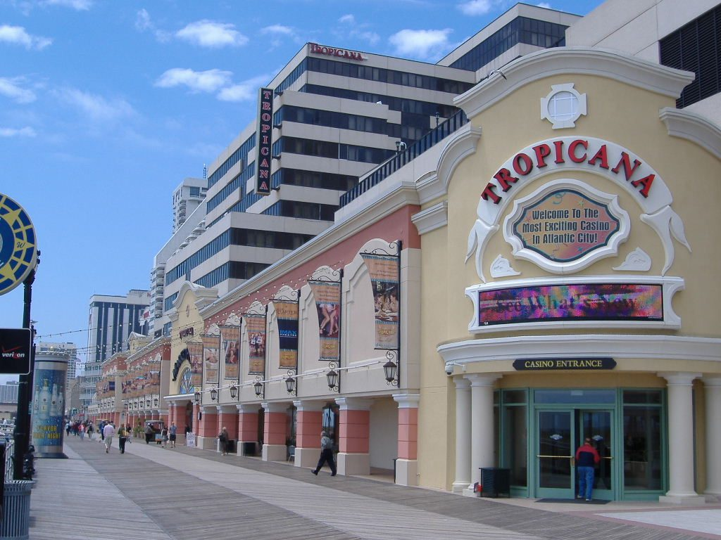 Outside the Tropicana Casino in Atlantic City