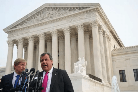 U.S. Supreme Court addressing the legalization of sports betting