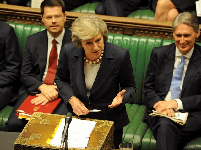 Theresa May in Parliament discussing loot boxes,