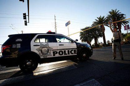 Vegas police protecting a crime scene