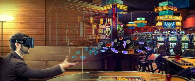An example of a player entering a Virtual Reality casino
