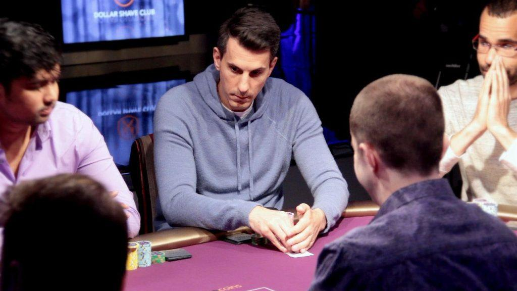 Voulgaris taking part in a live poker tournament