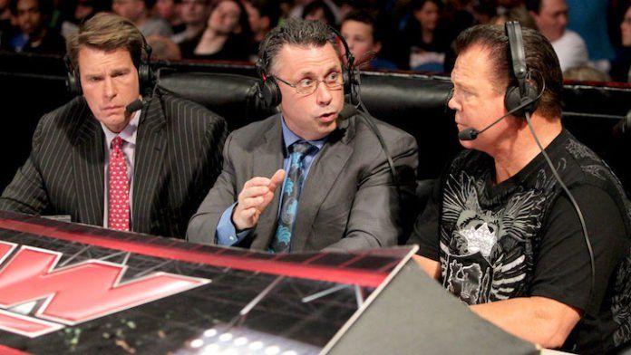WWE Commentators in debate during a match
