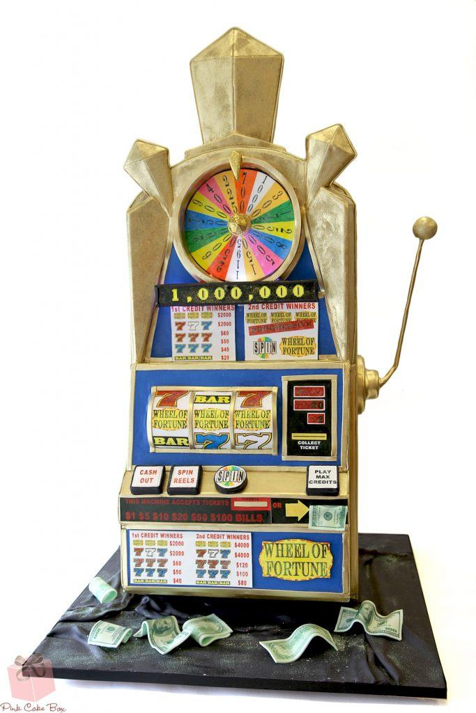 An image of the Wheel of Fortune slots cake