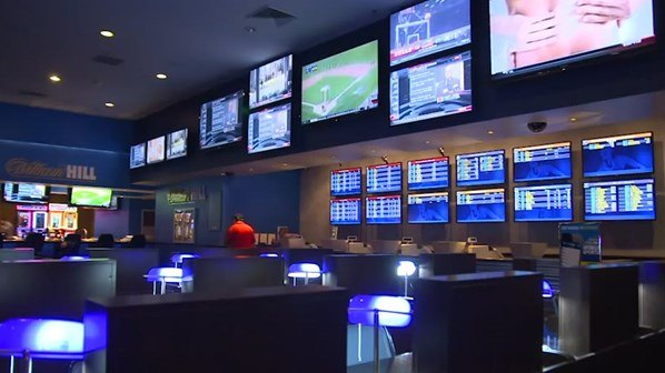 Inside a William Hill bookmakers shop