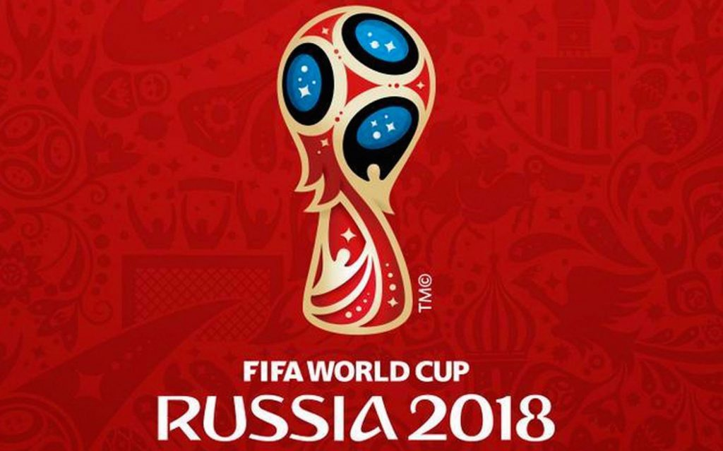 The World Cup logo for Russia 2018