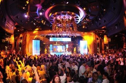 Nightlife at XS, one of the best night clubs in Las Vegas