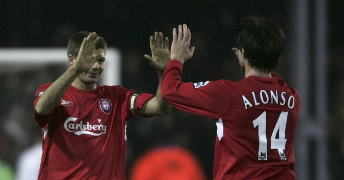Xabi Alonso, scored from his own half in 2006 to win a bet for a lucky punter