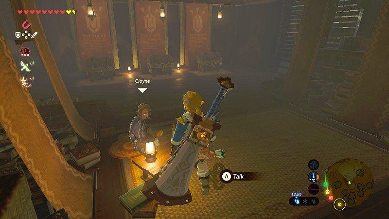 In-game action of gambling in the Zelda game