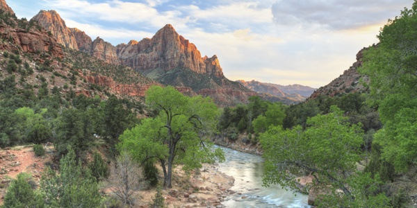 A sunset shot from Zion National Park