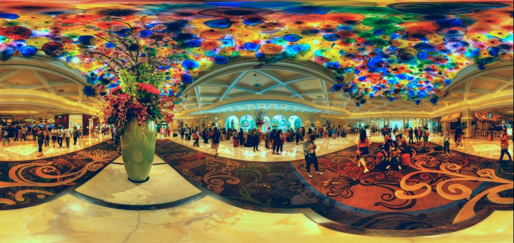 Dale Chihuly Glass Sculpture in the Bellagio Hotel Lobby.