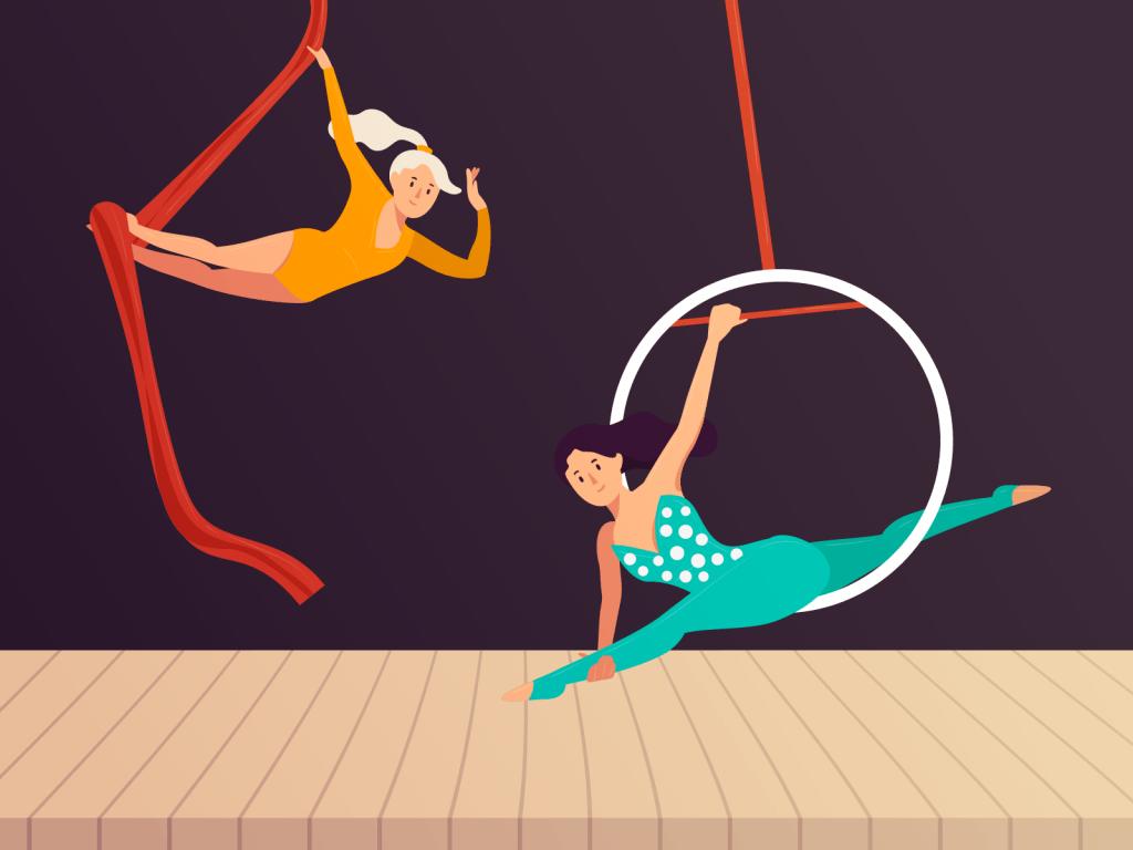 Acrobats show