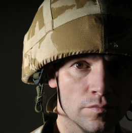 army soldier looking sad from gambling problem