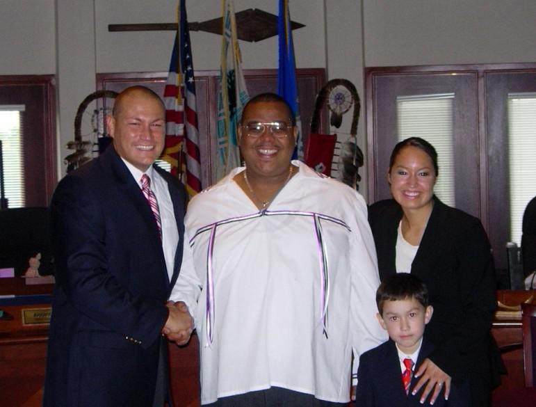 Former Mashantucket Pequot Tribal Chairman Michael Thomas, before he maxed out his tribal credit card and his luck.
