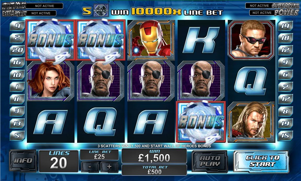 The Avengers Slot game