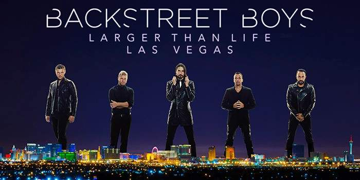 poster for backstreet boys vegas show 2017