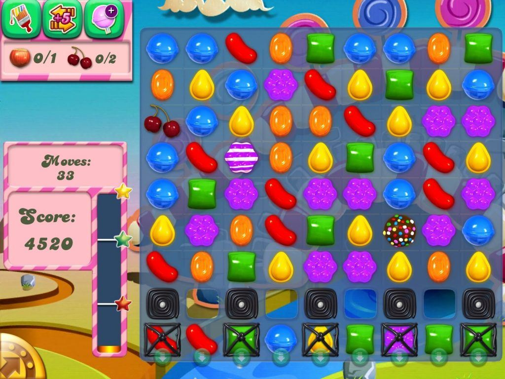 Bejewelled gameplay from the mobile app
