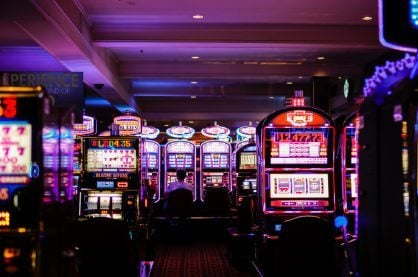 Slot machines in casino