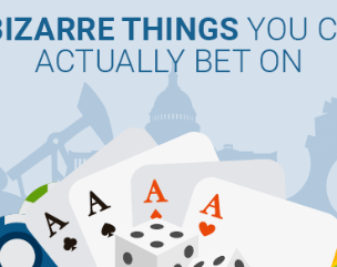 title image playing cards and chips with title of crazy bets you can make